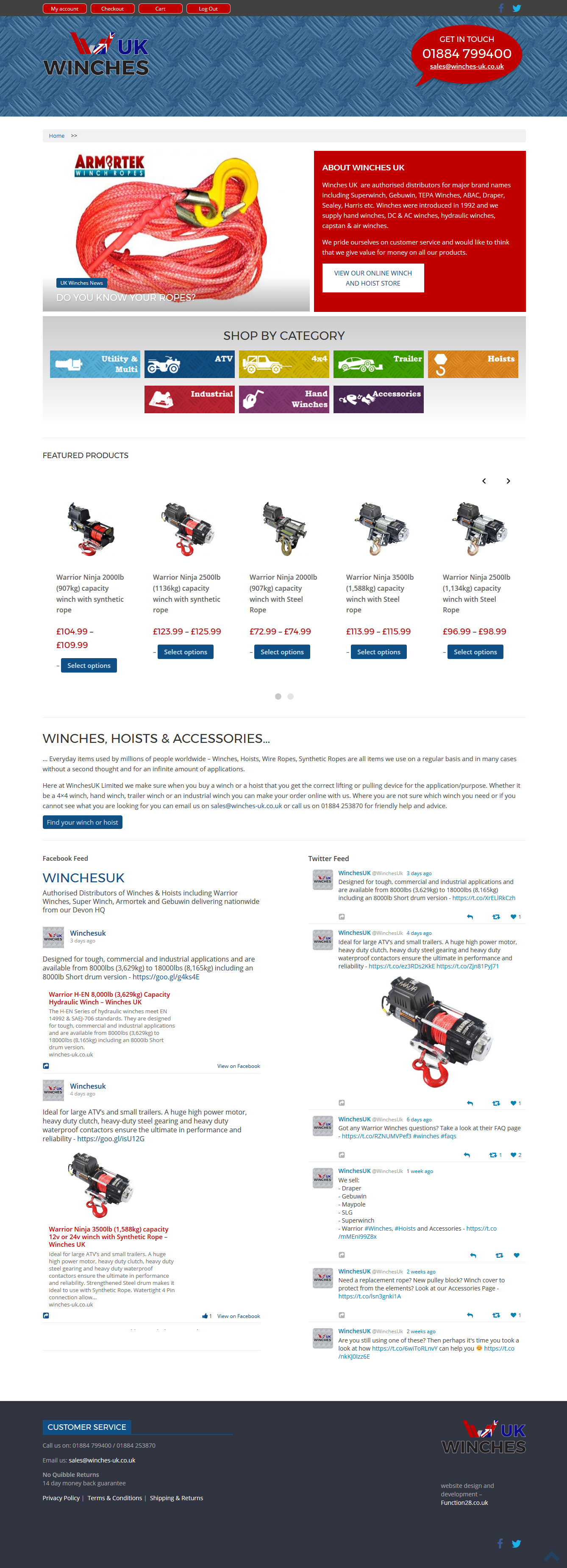 Devon website design development function28 limited winches uk winches uk is a full ecommerce website selling winches hoists and accessories the website is fully responsive and under ssl certificate xflitez Images
